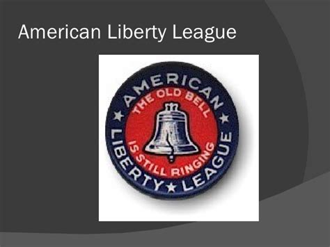 liberty league chapter 25 the great depression and the new deal