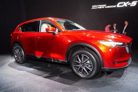 2017 mazda cx 5 debuts with new look promised diesel