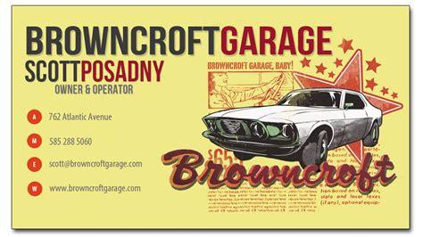 Browncroft Garage by Web Design Graphic Design Document Design Writing