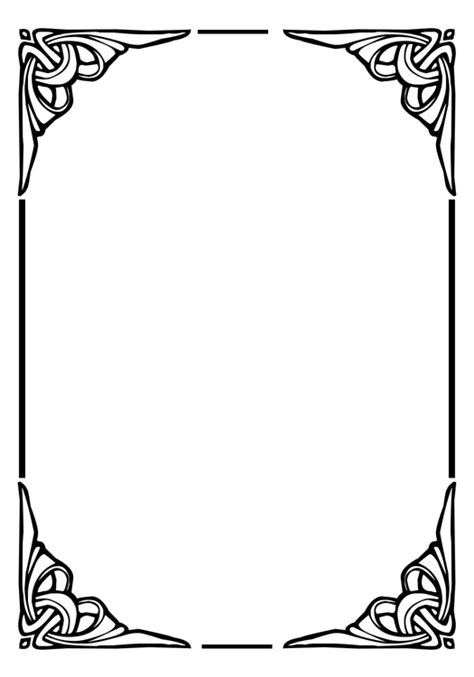 frame design black and white page dividers plus black and white borders and frames