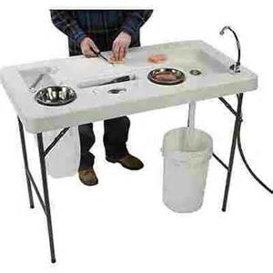 portable fish cleaning station sink fishing