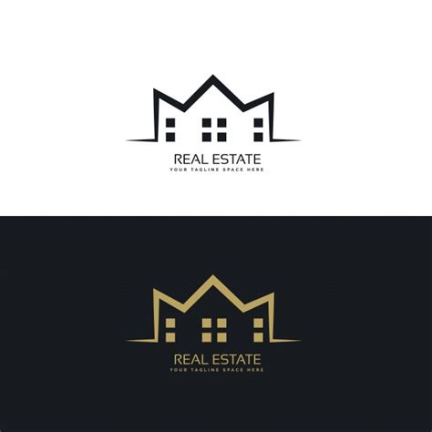Modern Logo Design For Real Estate Sector Vector Free Download Free Modern Logo Templates