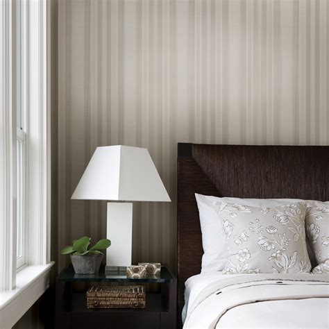 Striped Wallpaper Traditional Bedroom Other Metro By American Blinds Wallpaper
