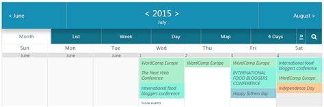 publish calendar wordpress site