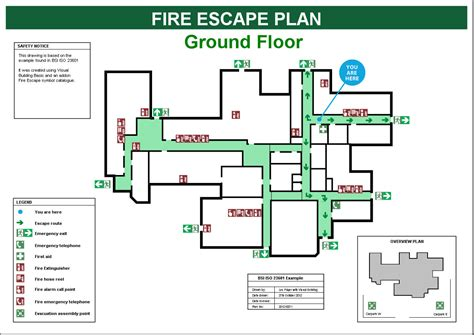 Fire Escape Plans Building Evacuation Map Template