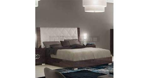 modern italian bedroom set prestige umber birch modern italian bed prestige umber birch bedroom