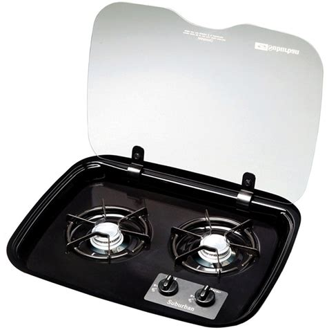rv cooktop suburban 2983a flush mount glass cover for 2 burner drop