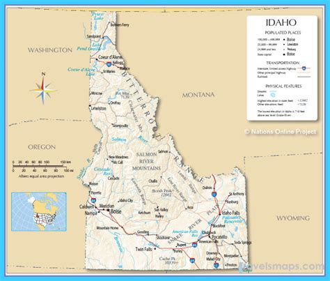 8 Gravesites Of Id To Visit by Map Of Boise Afputra