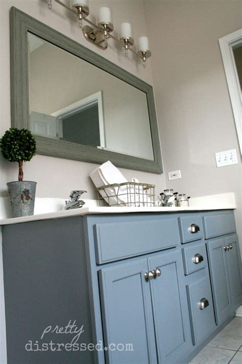 hometalk bathroom oak vanity makeover with paint