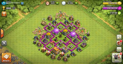 layout kuat coc th 6 farming base clash of clans th 6 design base clash of