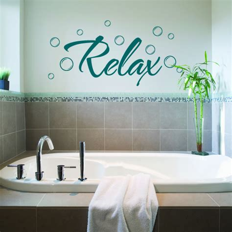 bathroom wall art stickers relax bathroom vinyl wall art sticker 163 3 99 blunt one