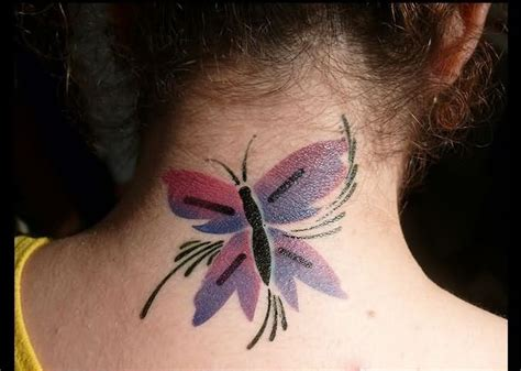 small butterfly tattoos on neck 71 sweet butterfly neck tattoos