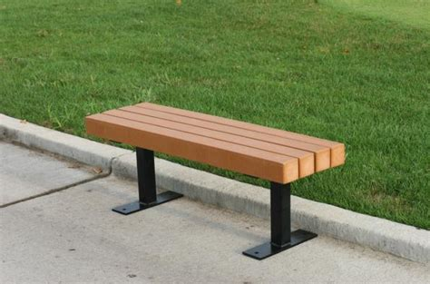 recycled park bench recycled plastic backless park bench