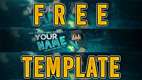 Photoshop Quot Free Download Quot 20 Likes 3d Minecraft Template Quot Free Banner Template Quot Youtube 3d Banner Template