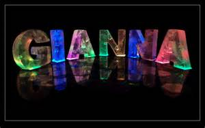 the name gianna in 3d coloured lights
