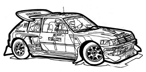 Coloring Page Rally Car In 1985 Rally Car Coloring Pages