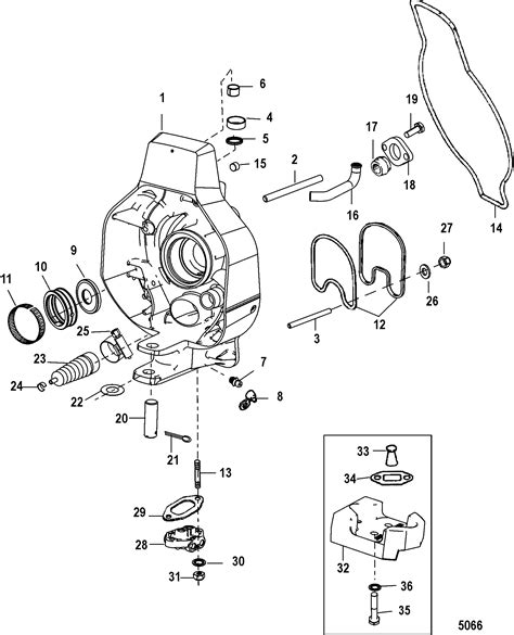 one parts gimbal housing for mercruiser alpha one ii sterndrive