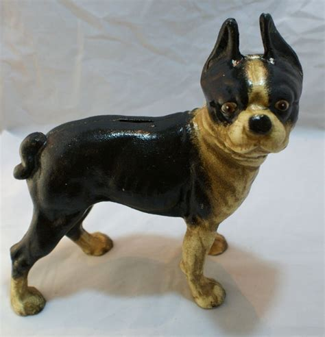pug bull terrier large boston bull terrier cast iron bank decor pug mantel pit bull ebay