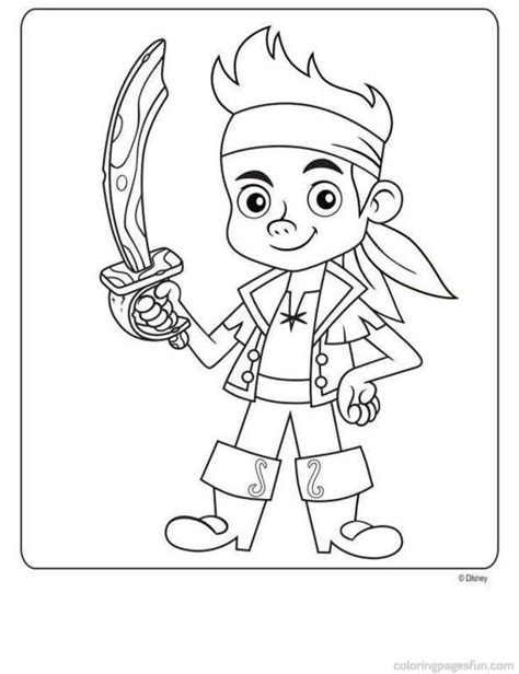 free printable jake and the neverland pirates coloring