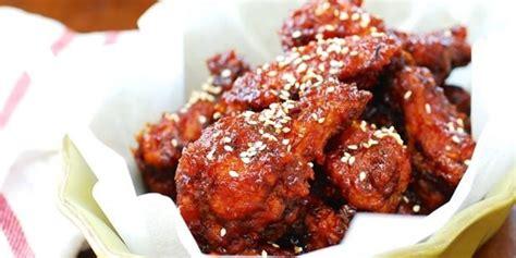 Sayap Ayam Segar resep sayap ayam pedas khas korea 2018 harianindo