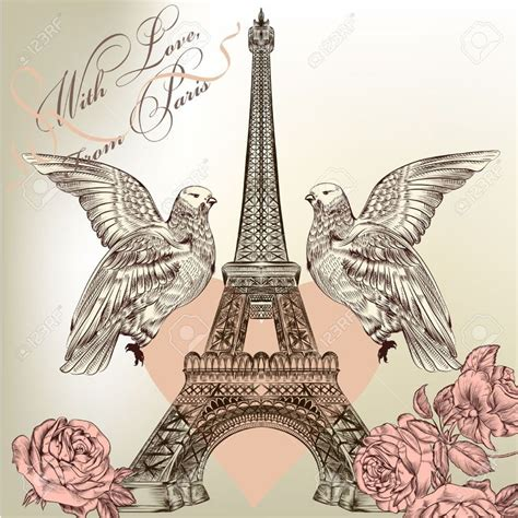 imagenes retro de la torre eiffel torre eiffel dibujo romantico buscar con google templo