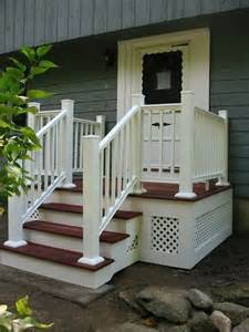 Wooden Front Stairs Design Ideas Work Stairs Walkway Exterior House Search Home Front Stoop Deck