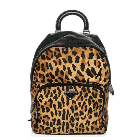 Leopard Print Backpack prada tessuto leopard print backpack nero black