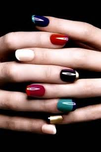 colored nail tips colored manicure