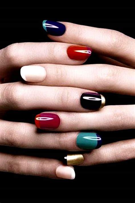 manicure colors colored manicure