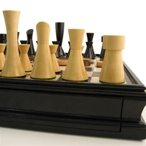 contemporary chess set modern chess checkers game set weighted chessmen