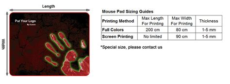 Custom Size Mouse Mat by About Custom Mouse Pad Sizing Guides X Raypad