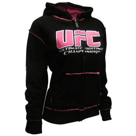 Hoodie Ufc Zemba Clothing ufc womens sherpa hoodie black pink ufc s hoodies ufc store view all my style