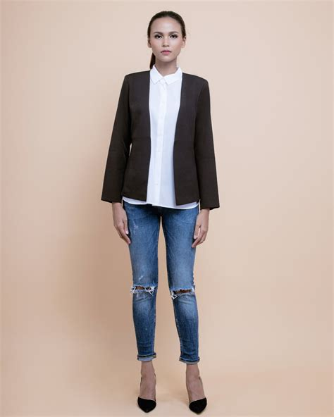 Berkualitas Blazer kiera coffee brown blazer idr 309000 00 we receive so much for kiera blazer and you why be
