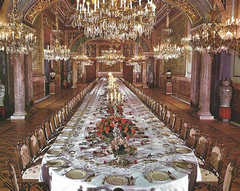 Palace Dining Room by The State Dining Room At Royal Palace Of Madrid Spain