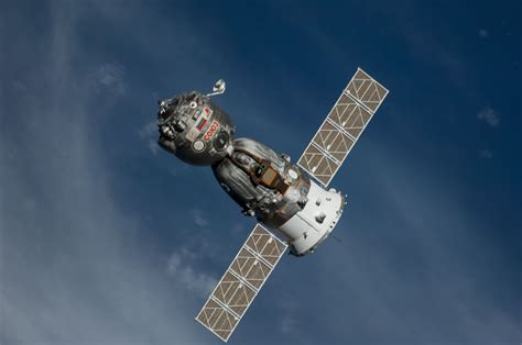 Space the soyuz tma 12m spacecraft departs nasa