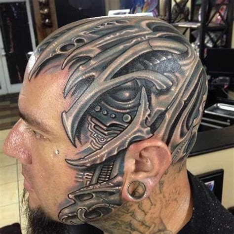 biomechanical portrait tattoo 13 badass realistic biomech tattoos tattoodo