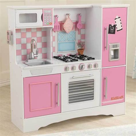 Kidskraft Kitchen by Kidkraft Culinary Wooden Play Kitchen Pink Pastel