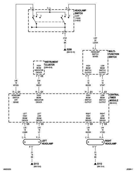 2002 dodge durango headlight wiring diagram efcaviation