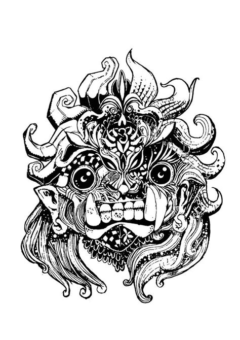 barong mask tattoo design barong 2 by gasse d363ds9 jpg 751 215 1063 art
