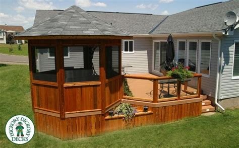 deck gazebo deck with screened gazebo interesting ideas for home