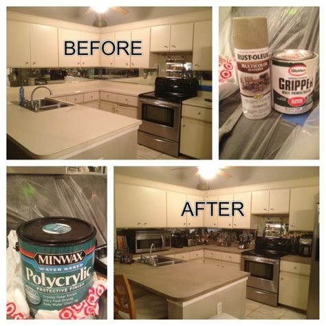 Spray Paint Laminate Countertops by 1000 Ideas About Refinish Countertops On Faux