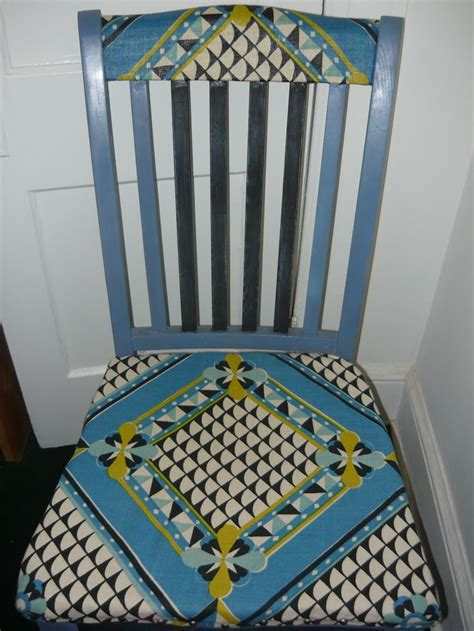 Refabric A by Repurposed A Chair Took Some Fabric An Some Paint