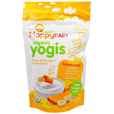 Happy Baby Melts Yogis Strawberry nurture inc happy baby organic yogis freeze dried
