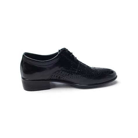 comfortable black dress shoes for men mens chic round toe wing tip punching mesh dress shoes