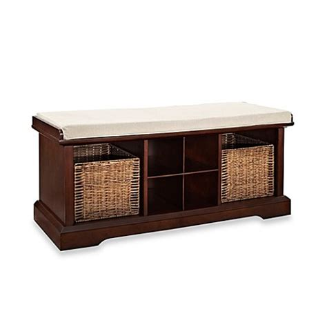 buy storage bench buy crosley brennan entryway storage bench in mahogany