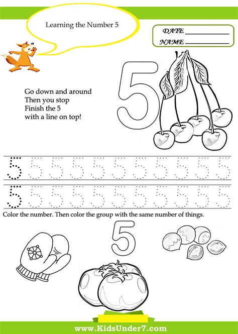 printable numbers toddlers kids under 7 free printable kindergarten number