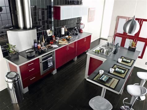 table de cuisine table avec bar de cuisine moderne en l chez leroy merlin