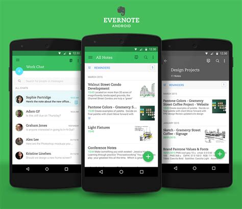for android evernote for android gets a material design update