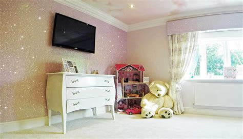glitter wallpaper bedroom ideas how to use glitter wallpaper in a child s bedroom the