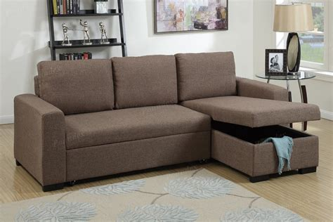 sectional sofa with storage chaise light coffee fabric storage chaise sectional sofa